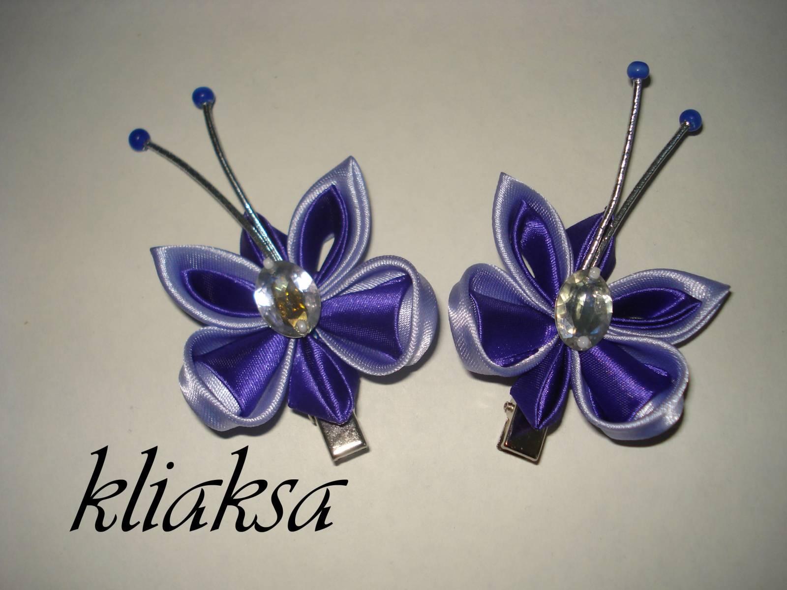 Канзаши цветок зажим для волос мастер класс своими руками